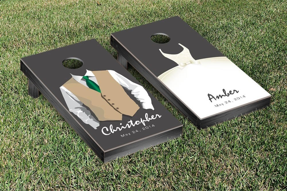 Designs Personalized Bride And Groom Cornhole SetGifts