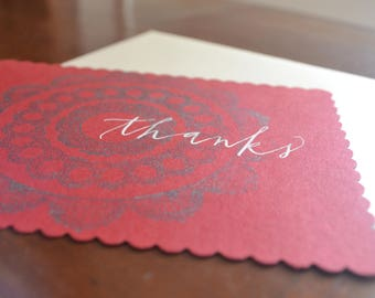 thanks on red coverstock with scalloped edges + shimmery opal A2 (1)