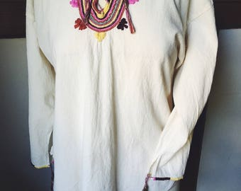 Embroidered White Tunic