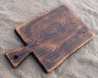 Old Rustic Cutting Board, Wooden Serving Board, Vintage Wood Board, Chopping Board, Bread Board, Cheese Board, Salvaged Wood Board