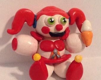 Custom FNAF Sister Location CIRCUS BABY Clay Figurine Five Nights at Freddy's