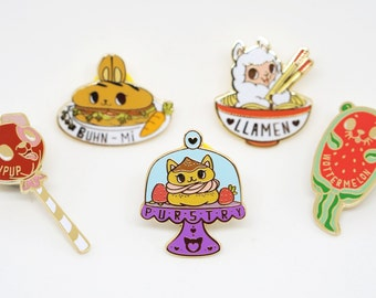 Too Cute To Eat Hard Enamel Pin Collection - Series 2