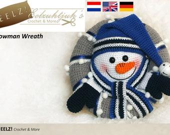 Snowman Wreath - Crochet Pattern