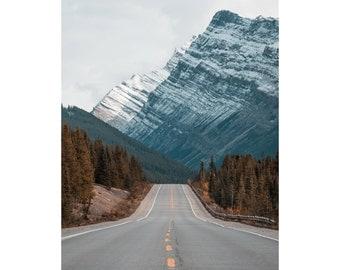 Mountain Print - Road Print - Road Digital Photo - Printable - Vertical - Digital Photo - Instant Download - Digital Download - Home Decor