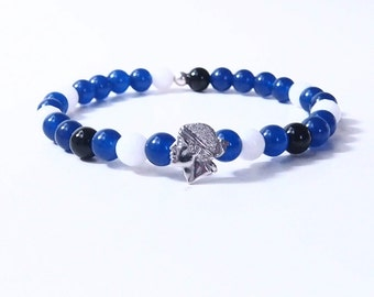 Bracelet beads FORZA BASTIA & head of Moor