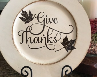 Give Thanks Decorative Plate