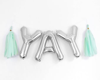 """YAY Letter Balloons 