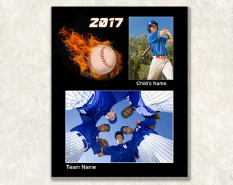 Baseball Memory Mate Template, Sports Mate, 8x10, Instant Download, Photoshop PSD File, Layers