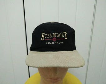 Rare Vintage STEAMBOAT COLORADO Spell Out Embroidered Cap Hat Free size fit all