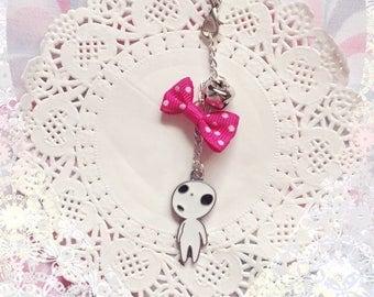 Pink Bow Kodama Phone Charm
