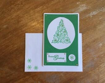 Season's Greetings Tree Card