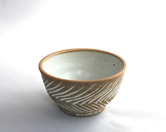 Ceramic Serving Bowl, Ceramic White Soup Bowl, Pottery Soup Bowl, Pottery White Bowl, Ready to ship