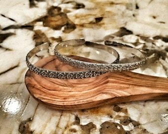 Sterling Silver Floral Bracelet - Handmade Silver