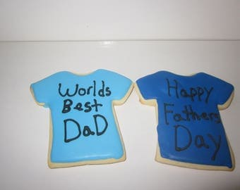 Fathers Day T-shirt Cookies