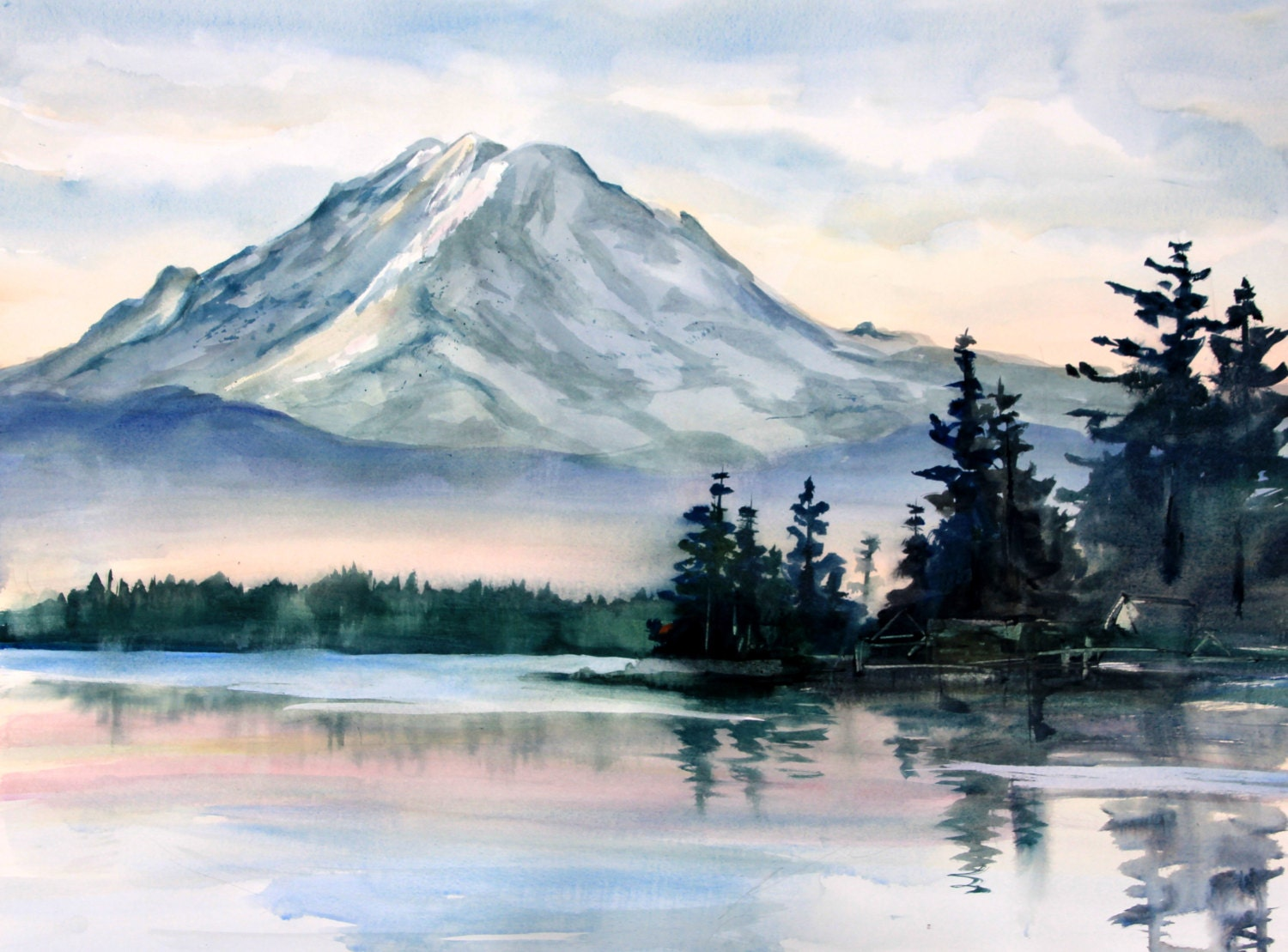 Mt Rainier 2 A Signed Print By Columbia Gorge