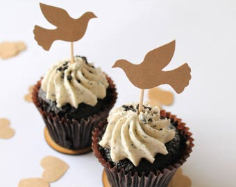 Edible Dove Cake Decorations