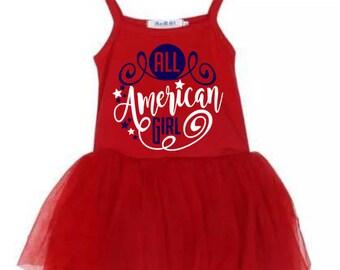 Patriotic Tutu Dress 4t 6y