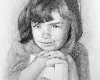 Pencil Drawing Custom Portrait From Photo Gift For Her For Him Personalized Gift Hand Drawn Art Sketch From Photo Birthday Gift Memorable