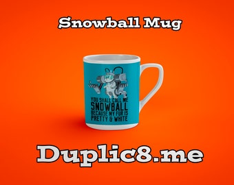 Custom Snowball mug - Rick And Morty