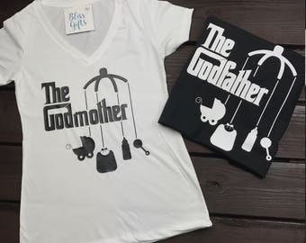 The Godmother or Godfather Shirt with Mobile