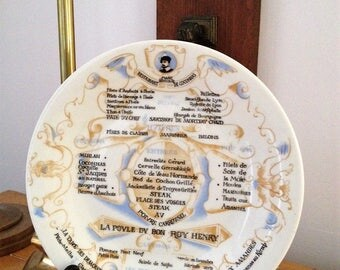French Charming Vintage Marc Annibal Restaurant de Coconnas 9.25 inches Plate with Menu