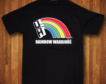 University of Hawaii Rainbow Warrior T-Shirt OFFICIALLY LICENSED