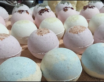 Bath Bomb Kit - Bulk Set of 12 Assorted BathBombs - Over 36oz of Fizzling Awesomeness! Subscribe & Save!