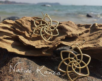 Seed of life earrings,sacred geometry,brass earrings,Tribal brass earrings, brass,boho,gypsy earrings,brass jewellery,tribal jewellery,