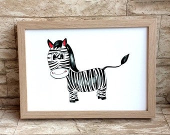 Nursery picture Zebra