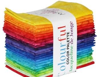 Be Colourful Color Palette Fat Quarter Sampler by Jacqueline de Jonge for Anthology Fabrics  #BCFQ26-01 100% Cotton