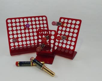 Save 20 bucks, Red, FULL SET,  LipSense display.  Large, Medium and Small, LipSense stand, LipSense display, SeneGence, Lipsence