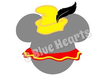 Dumbo Mickey Head SVG dxf pdf Studio, Disney Mickey Head SVG dxf pdf Studio, Dumbo Mickey Head, Mickey head svg dxf pdf studio