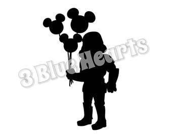 Stormtrooper with Balloon svg studio dxf pdf jpg png
