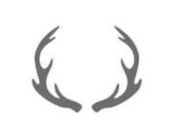 Mule Deer Antlers Stencil Made from 4 Ply Mat Board