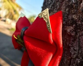 Men's Red Retro Bow Tie Men's gift Mens bowtie Wedding Bow ties for MenGroomsman gift groom wedding gift party PromBoyfriend gift Him