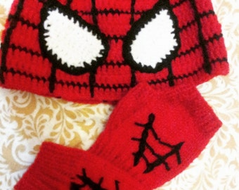 Spider man Cap and Mitts set