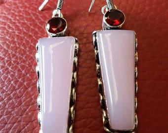Rose Quartz Earrings !