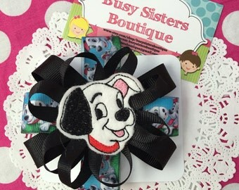Dalmation bow / hairclip