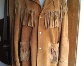Easy Rider! 70s Schott NYC Western Fringe jacket size 36