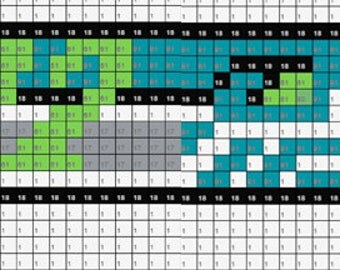 12th Man Inspired Fan Art Perler Bead Sprite Pixel Pattern Instant Digital Download