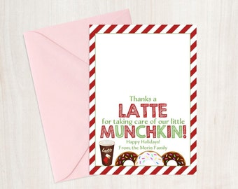 CHRISTMAS Thanks A Latte 5x7 Gift Card Printable!