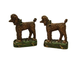 Syroco Wood Poodle Bookends