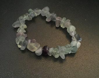 Fluorite Chip Bead Bracelet