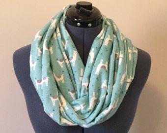 Llama Infinity Scarf / Triangles / Scarf / Infinity Scarf / Llamas / Animal Print / Animal Lover / Flannel / Soft / Loop Scarf / Gift