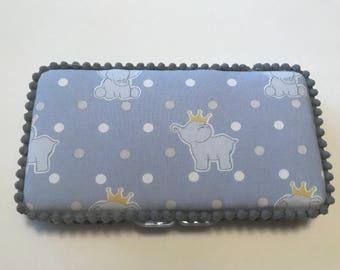 Elephant Handmade baby wipe case.