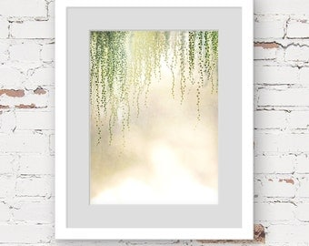 string of pearls print, modern bohemian art print, tropical botanical art print, dreamy wall art, botanical photo art, hanging plant art