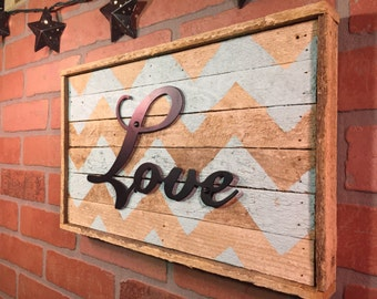 Rustic Love sign, wall decor