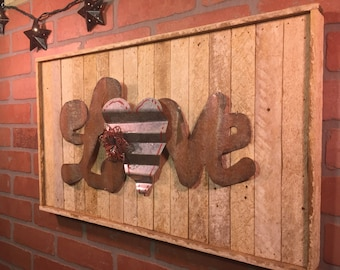 Rustic Love, Wall decor