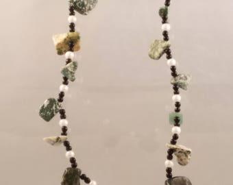 Gemstones Necklaces Designs, Handmade Jewelry, Natural Stone Jewelry, Natural Gemstone Jewelry, Handmade Gemstone Necklaces,Aventurine, Onyx