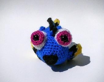 Handmade crochet baby Dory